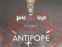 Antipope poster gig music skull