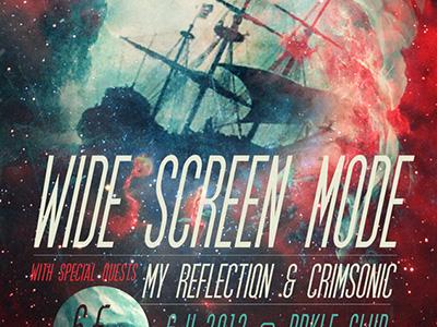 Widescreen Mode band poster music gig