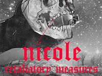 Nicole poster poster gig music skull