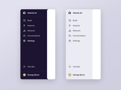 Dashboard Menu profile ux branding icons ui dashboard
