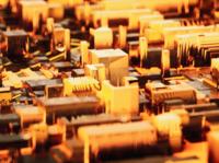 Circuit board render by octane