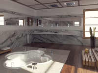 Bathroom rendering by Octane Render