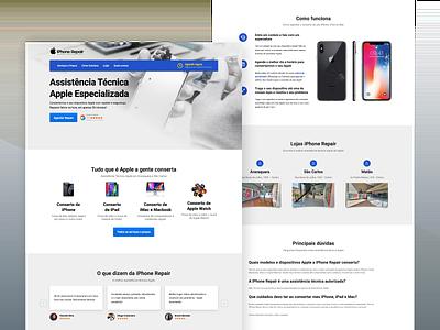 iPhone Screen Repair & Replacement company design wordpress development ux wordpress design web design iphone wordpress