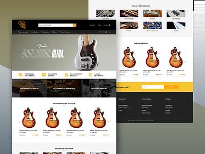 Online shop for musical instruments music store woocommerce music design ux wordpress wordpress design web design