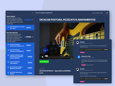 Learning management system for an Online Bass School learning platform learning management system lms music ui design wordpress development ux wordpress design web design wordpress