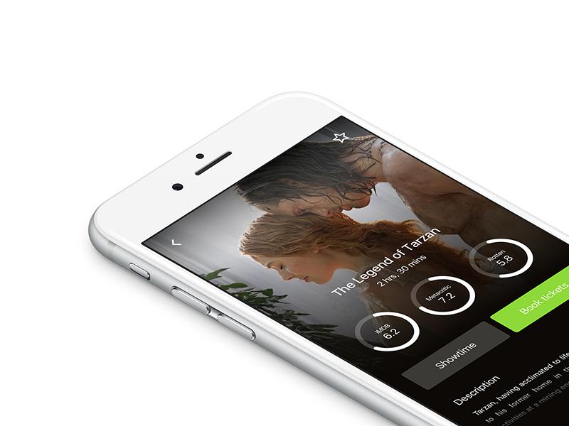 Movie App UI ios design app movies