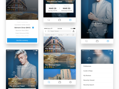 Travel app - hotel list