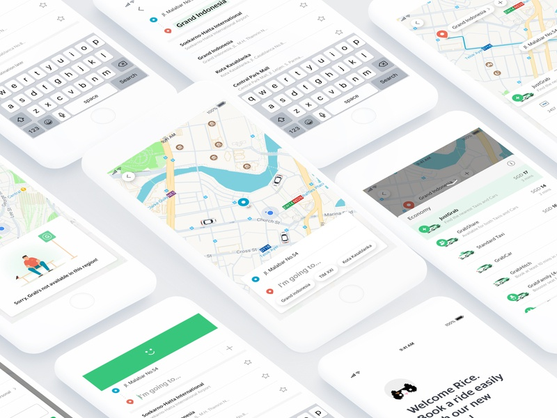 Redesigning UX and IxD for Grab passenger app information architecture flinto transportation re design interaction guideline product design prototyping aftereffect design ux app framerjs ui interaction prototype