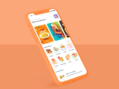 Food Delivery branding illustration typography app ux ui concept design uitrends userinterface graphics restaurant app