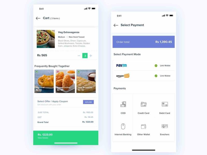 Cart UI application ui application cart screen minimal typography appdesign app userinterface uitrends design ux concept design ui cart ui payment cart