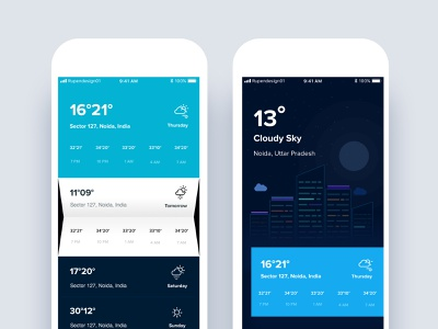 Weather UI app userinterfacedesign typography design uitrends vector illustration appdesign userinterface card layout ux ui concept design uidesign weather icons weather app weather screen weather forecast weather ui weather