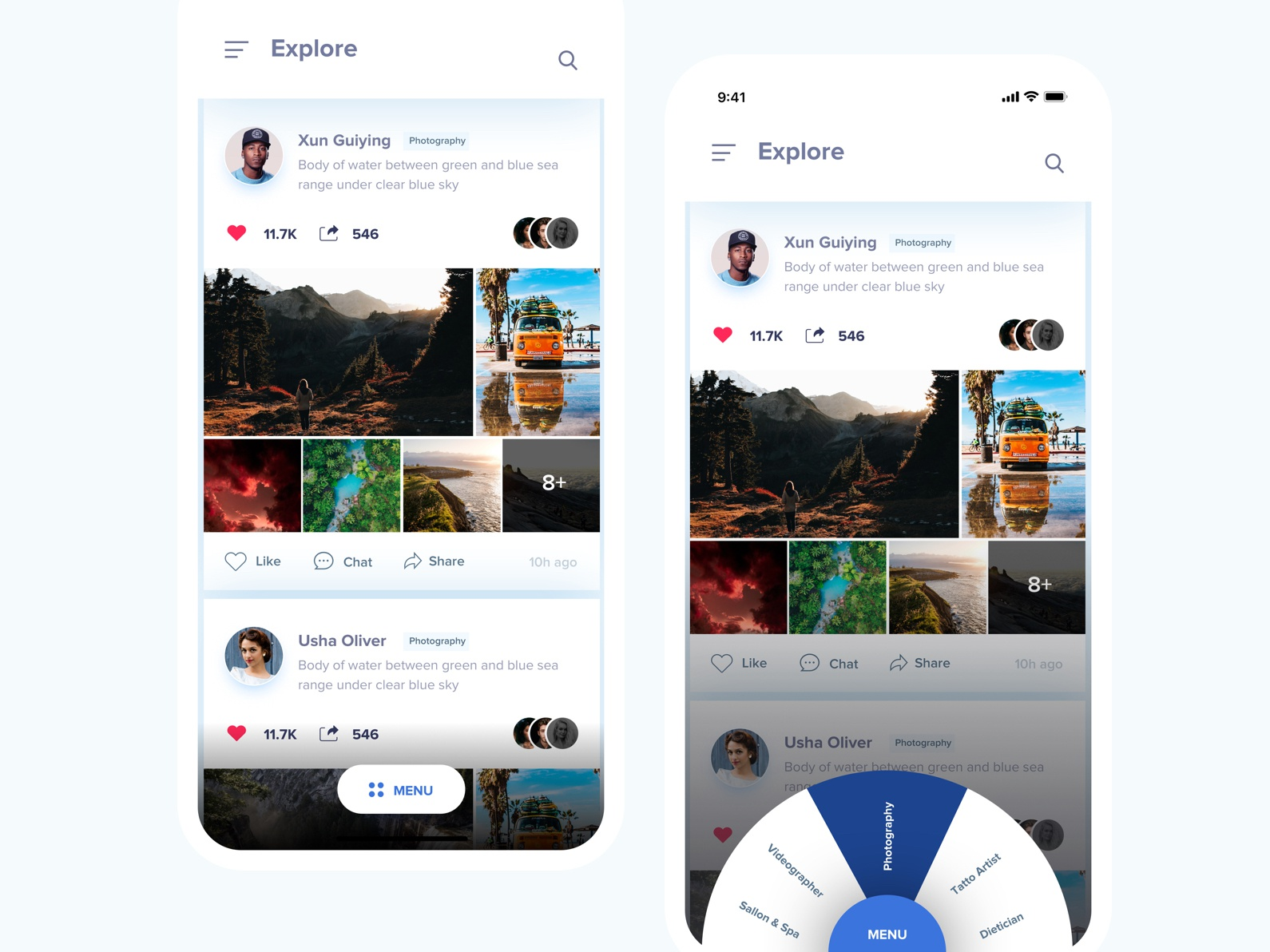 Explore UI latest ui iphone x activity screen typography appdesign uitrends app userinterface design ux concept design ui menu screen menu activity feeds explore