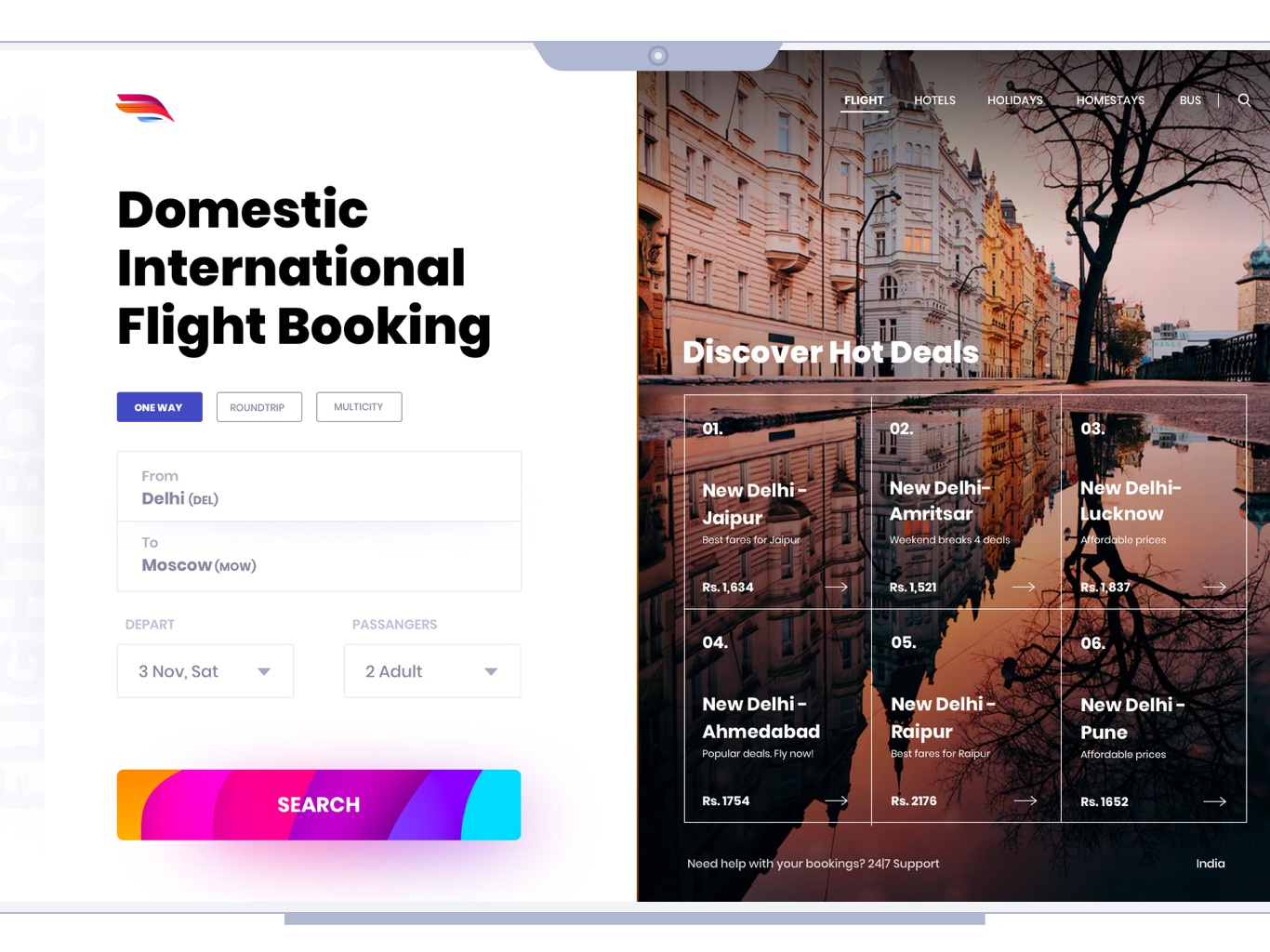 Flight Booking userinterfacedesign uidesign typography uitrends app userinterface design ux concept design ui offers search hot deals flight booking booking app flight