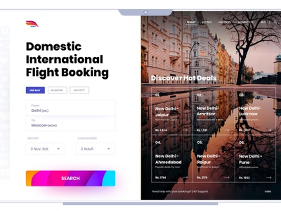 Flight Booking userinterfacedesign uidesign typography uitrends app userinterface design ux concept design ui offers search hot deals flight booking booking app flight