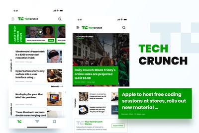 Techcrunch Design App