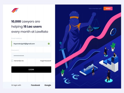 Law Firm Web Login - Concept Design