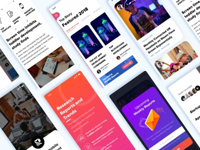 Tech Blog App Concept uidesign uitrends minimal concept design userinterface type website flat animation web app icon ux typography branding vector ui logo design illustration