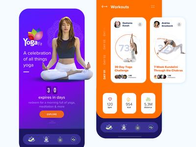Yoga App - Concept