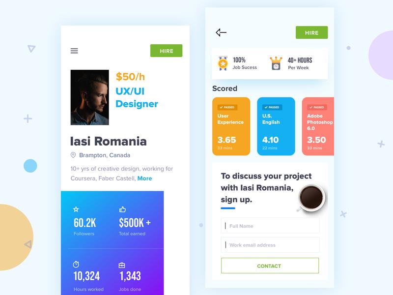 Hire Freelancer -Concept illustration icon vector userinterface uitrends userinterfacedesign uidesign concept design type flat ux typogaphy branding app design design app ui upwork