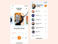 Music App clean branding brand art 3d uxui icon web illustration logo uitrends app design ux userinterface ui music player ui music player music app