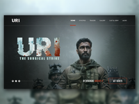 URI website concept design