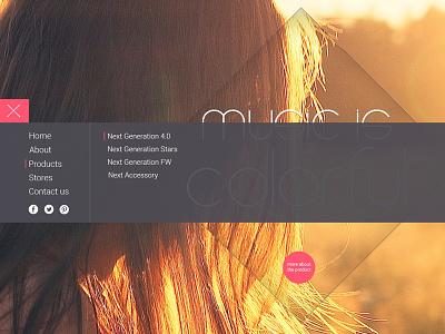 Menu Idea menu flat mobile desktop product landing page