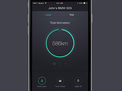 Access - Automotive control app concept car automotive biright. highlight minimalistic design dark clean ios app ui design ui concept