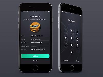 Access - Automotive control app concept 2 ui minimalistic ios design dark concept clean car highlight biright. automotive app