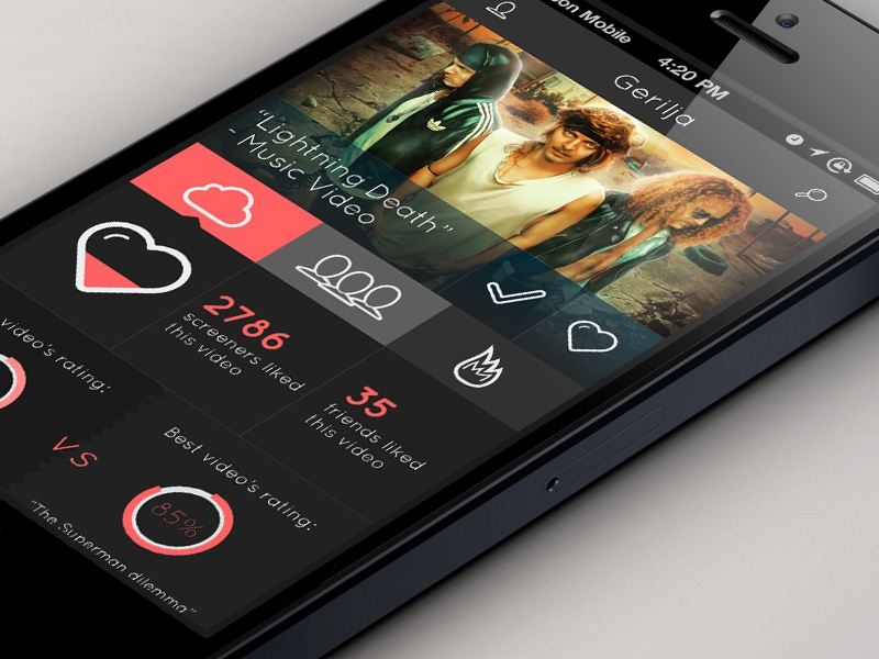 Screen - Concept App Design app ui mobile falcon white flat