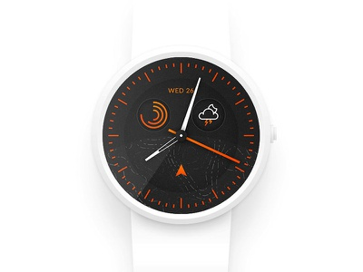 Smart watch design - Daily UI #014 sport outdoor orange time android wear apple watch clock moto 360 watch smart watch 014 dailyui ui daily