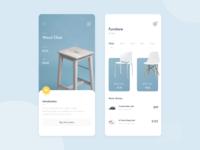 Furniture Purchase App vector design ui