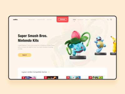 amiibo web design. For Pokemon