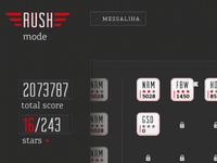 The FRM - rush mode screen
