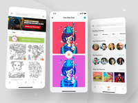 Color Therapy. Coloring Book for Adults Games vector illustration ae navigation mobile white app animation ui iphone