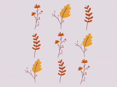 Autum leaves. drawing draw beginner procreate art procreateapp autumn autumn leaves bookillustration procreate illustrator illustration art