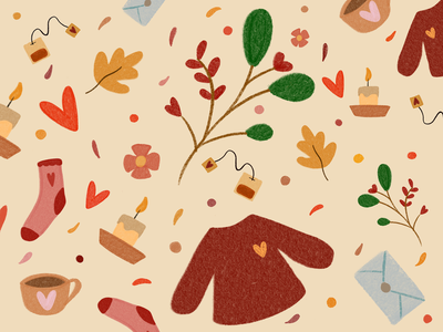 autumn pattern. pattern design pattern art pattern bookillustration autumn collection autumn leaves autumn party autumn procreate app procreate art procreate beginner draw drawing illustrator illustration art