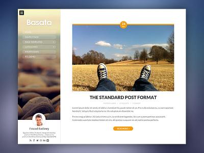 Basata WordPress Theme wordpress theme themeforest personal blog