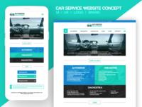 Car service website design 2017