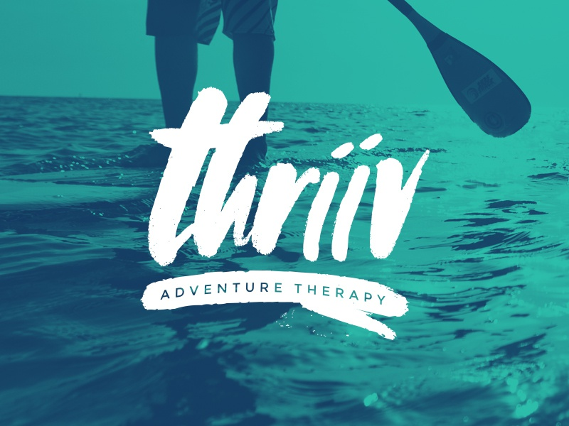 thriive brush paddleboard therapy logo