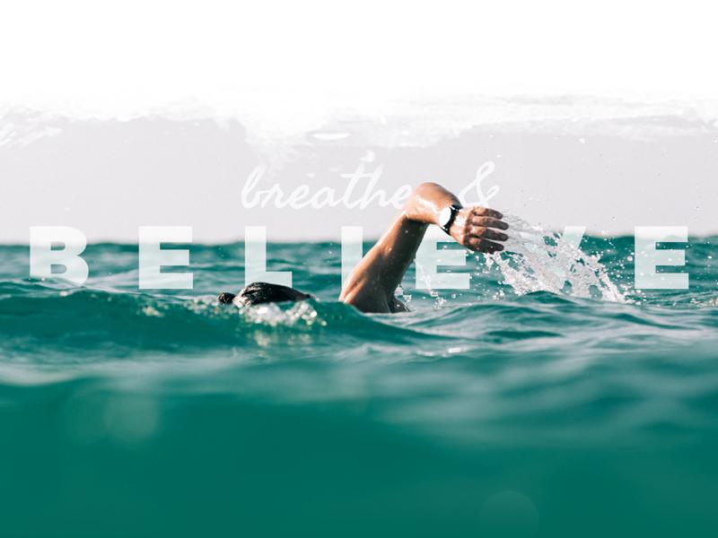 Breathe & Believe personal travel surf site design ui
