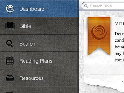 Bible Gateway iPad Dashboard