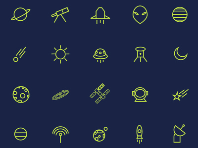 Astronomy Icon Set