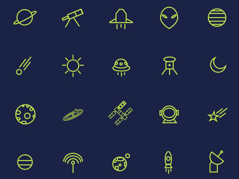 Astronomy Icon Set astronomy icon icons design icons set icons pack iconfinder icon app icon a day web ux branding ui logo vector design icon artwork icons icon astronomy