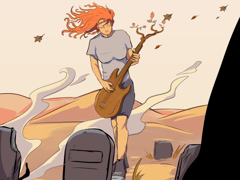 Acoustic Pilgrimage / Ziarah Akustik editorial illustration draw artwork illustrate drawing illustration