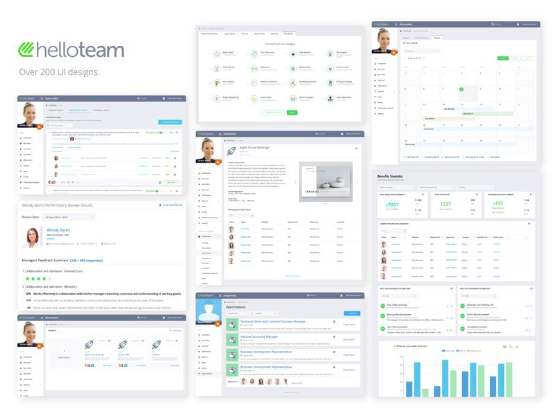 User Intrerface user interface design human resources software app ux ui user interface