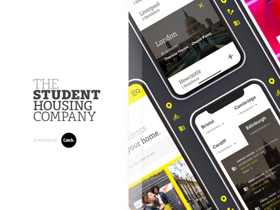 The Student Housing Company website redesign vector icon type website web flat search app nav ux article product logo clean branding mobile home carousel ui design