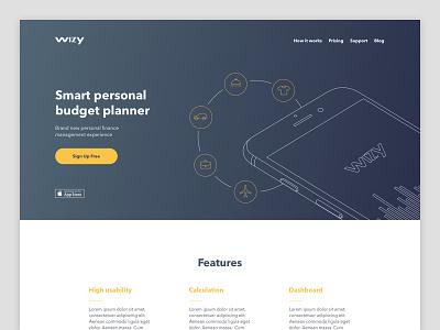 Daily UI #003 — Landing Page design money app landing page 003 dailyui