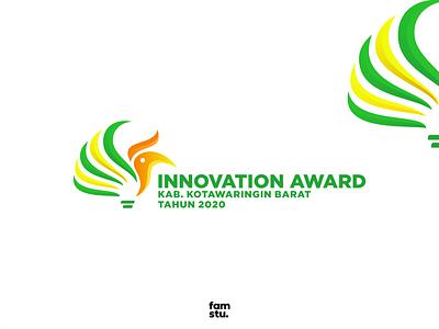 INNOVATION AWARD icon pangkalan bun indonesia borneo kotawaringin barat light bulb innovation bird burung tingang award illustration design logotype modern branding simplemakeitperfect simple designlogo logo