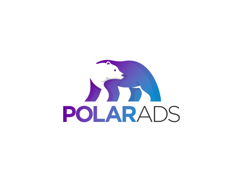 Polar Ads animal logo animal branding simplemakeitperfect simple gradation designlogo logotype modern logo modern ads polar technology