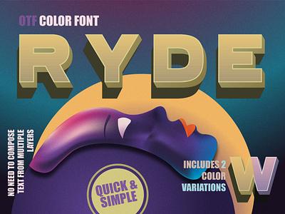 Ryde - sans serif color font uppercase fontself webfont vintage fonts svg font modern sans serif retro fantasy font elegant font typedesign minimal beauty fonts sans serif otf font color fonts 3d font